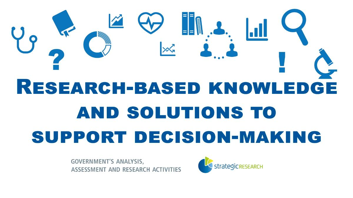 Research-based knowledge and solutions to support decision-making